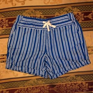 Stretchy White and Blue Shorts